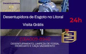 Desentupimento de esgoto em Santos