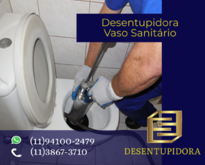 Desentupidora de vaso sanitário Vila Santa Catarina