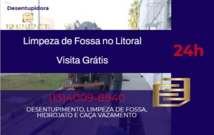Limpeza de fossa no Guarujá