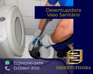 Desentupidora de Vaso Sanitário e Limpeza de Fossa